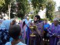 Богослужение в день празднования происхождения Честных Древ Животворящего Креста Господня в Святоникольском храме архиерейского подворья