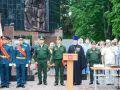 Принятие воинской присяги бойцами учебного подразделения воинской части